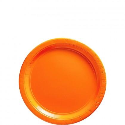 Paper Plates 7 in Orange Peel