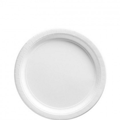 Paper Plates 7 in Frosty White