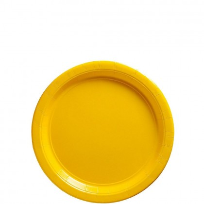 Paper Plates 7 in Yellow Sunshine