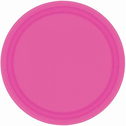 """Bright Pink Plates, 7"""" - Paper"""