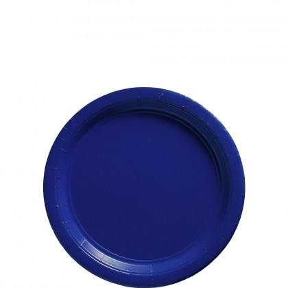 Paper Plates 7 in Bright royal Blue