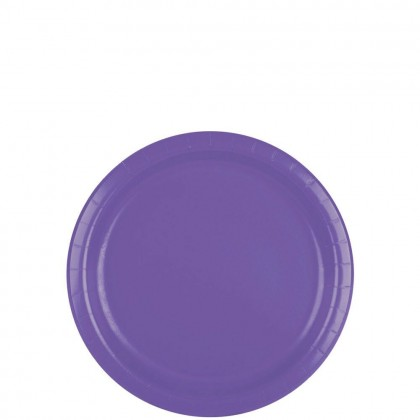 Paper Plates 7 in New Purple