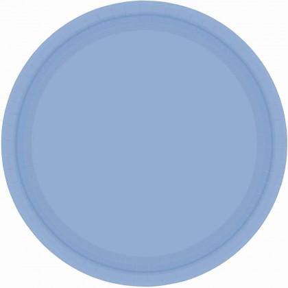 """Pastel Blue Plates, 7"""" - Paper"""