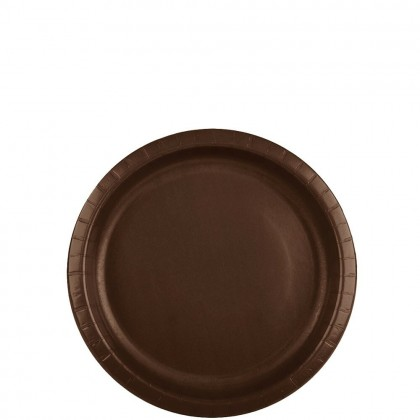 Paper Plates 7 in Chocolate Brown