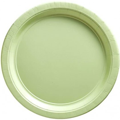 Paper Plates 7 in Leaf Green
