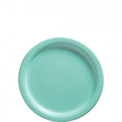 Paper Plates 7 in Robin Egg Blue