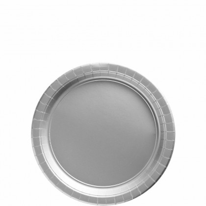 Paper Plates 7 in Silver
