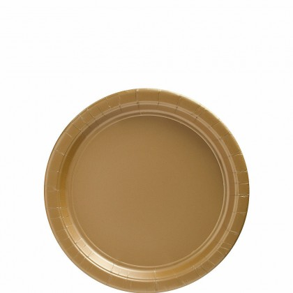 Paper Plates 7 in Gold