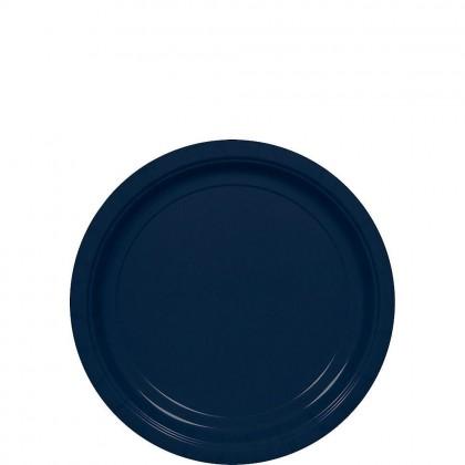Round Paper Plates 7 in True Navy