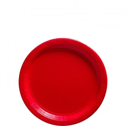 Paper Plates 7 in Apple Red