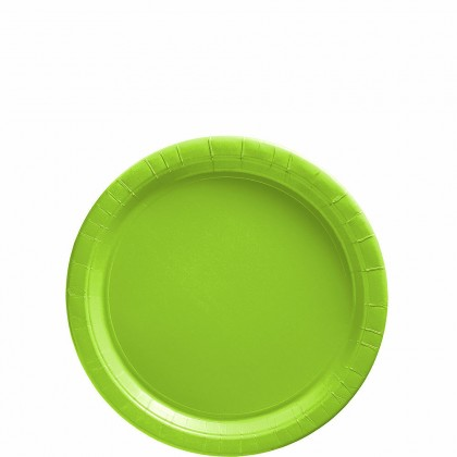 Paper Plates 7 in Kiwi Green