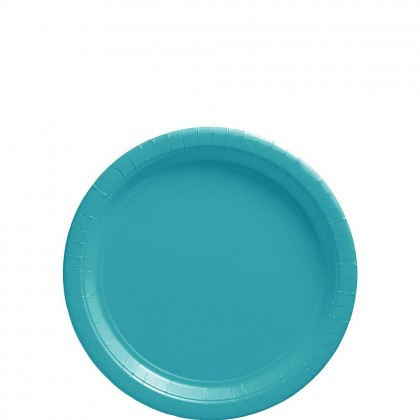 Paper Plates 7 in Carribean Blue