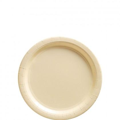 Paper Plates 7 in Vanilla Creme
