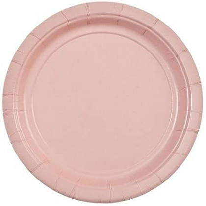 Round Paper Plates 7 in Blush Pink