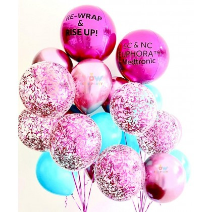 Customized 2 Side Print Organic Latex Balloon Bouquet