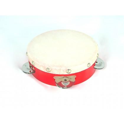 """Plastic Shell Calf Skin Tambourine - 6"""" x 4P"""