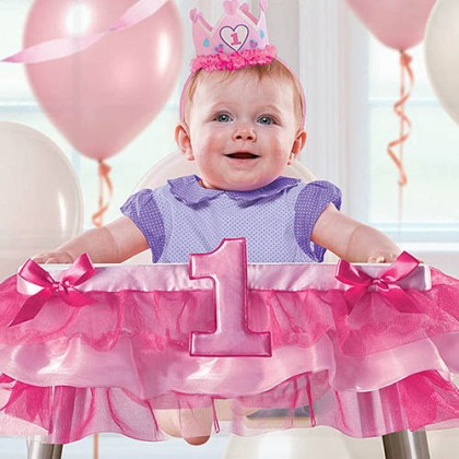 Deluxe Girl High Chair Decoration
