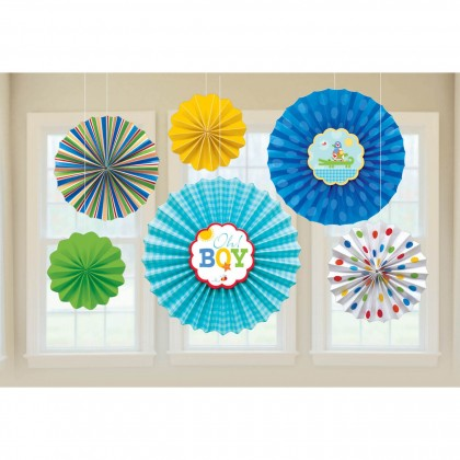 Ahoy Baby Paper Fan Decorations