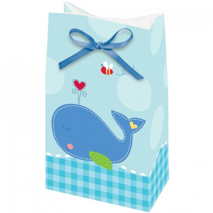 Ahoy Baby Paper Favor Bags w/Ribbon
