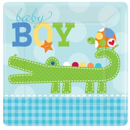 "Ahoy Baby 7"" Square Plate"