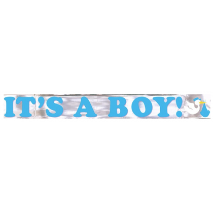It's A Boy Metallic Banner