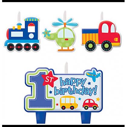 All Aboard Boy Birthday Candle Set