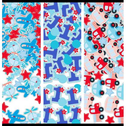 All Aboard Boy Value Confetti - Paper