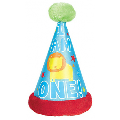 All Aboard Cone Hat w/Faux Fur Trim