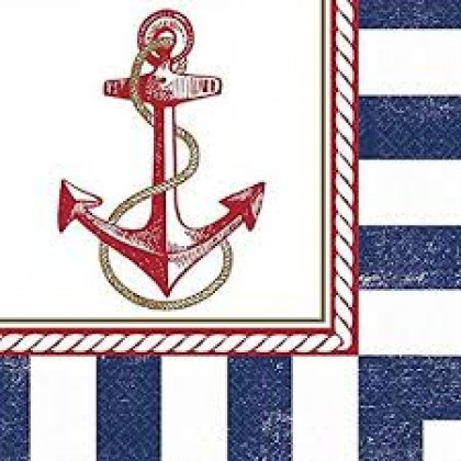 Anchors Aweigh Luncheon Napkins