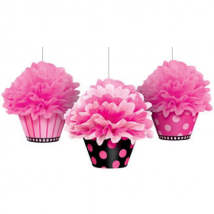 Another Year of Fabulous Cupcake Fluffy Decorations - Printed Paper & Tissue