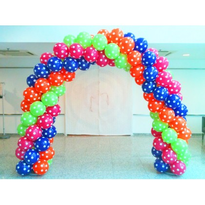 Spiral Arch (Printed Balloons)