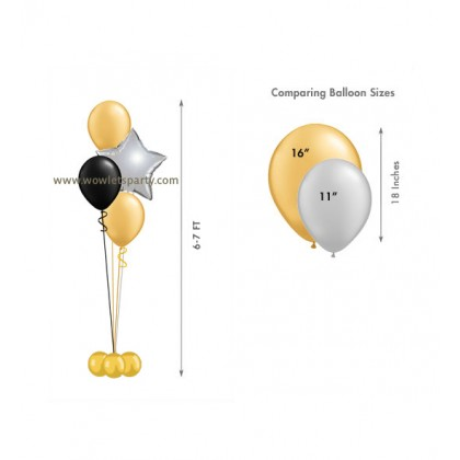 Balloon Centrepiece (3 Latex/1 Star)