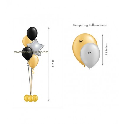 Balloon Centrepiece (4 Latex/1 Star)
