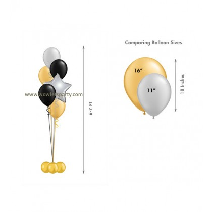 Balloon Centrepiece (5 Latex/1 Star)