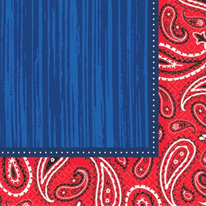 Bandana & Blue Jeans Beverage Napkins
