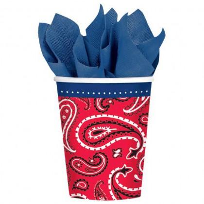 Bandana & Blue Jeans Cups, 9 oz.