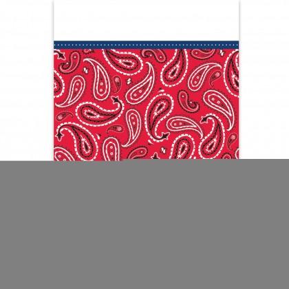 Bandana & Blue Jeans Plastic Table Cover
