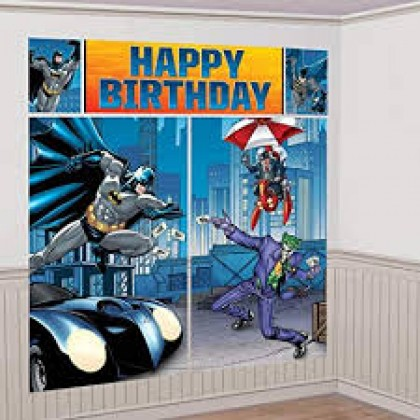 Batman™ Scene Setters® Wall Decorating Kit - Plastic