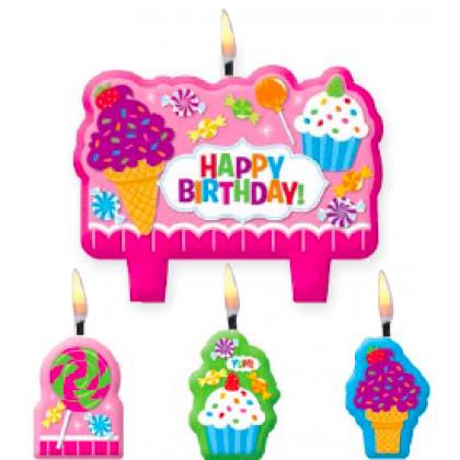 Sweet Shop Birthday Candle Set