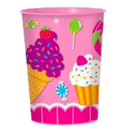 Sweet Shop Favor Cup - Plastic