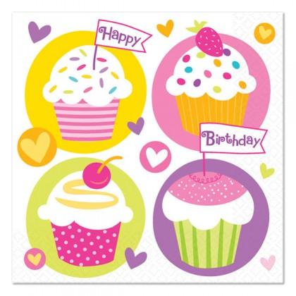 Cupcake Party Beverage Napkins