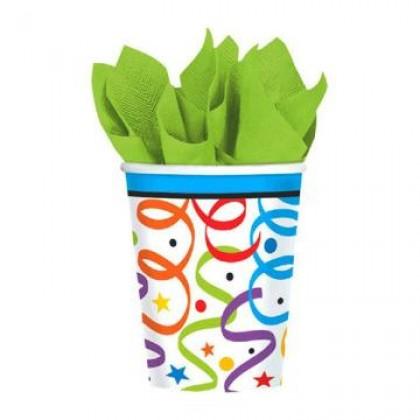 Colorful Birthday Cups, 9 oz.