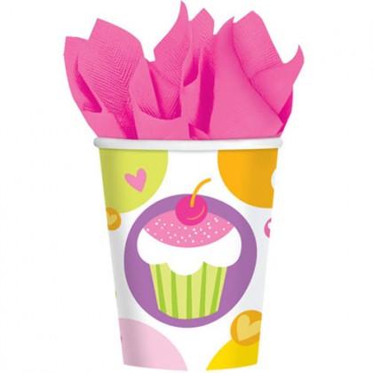 Cupcake Party Cups, 9 oz. 18 PKG