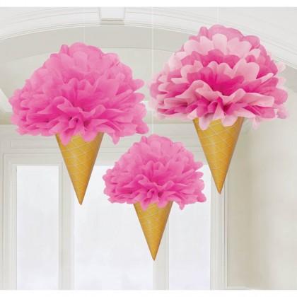 Sweet Stuff Ice Cream Fluffy Decorations - Tissue & Paper