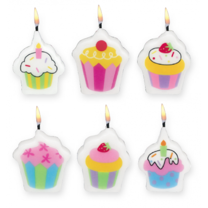 "1 1/4"" Sweet Stuff.. Mini Molded Birthday Candles"