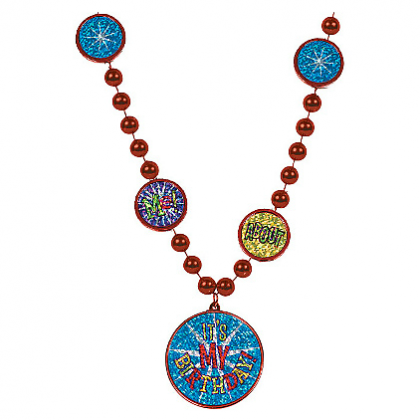 Balloon Bash Bead Necklace - Plastic