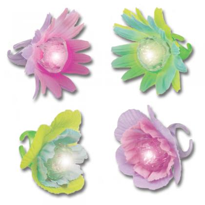 Sweet Stuff Light-Up Flower Ring Favors