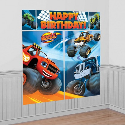 Blaze & the Monster Machines™ Scene Setters® Wall Dec. Kit - Plastic