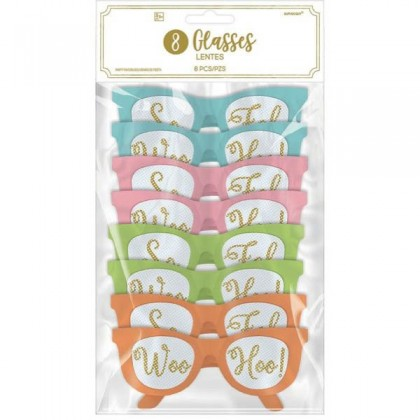 Confetti Fun Printed Glasses Multipack
