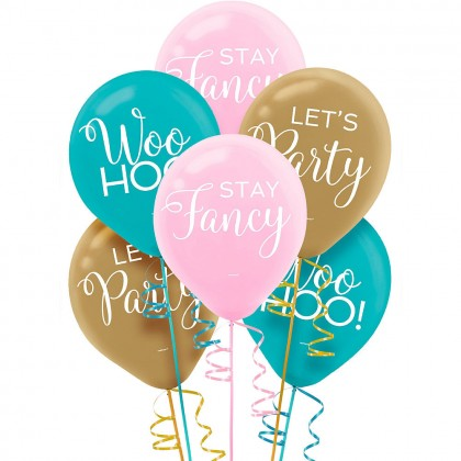 Confetti Fun Printed Latex Balloons - Asst. Colors